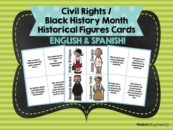 Civil Rights / Black History Month Historical Figures Card