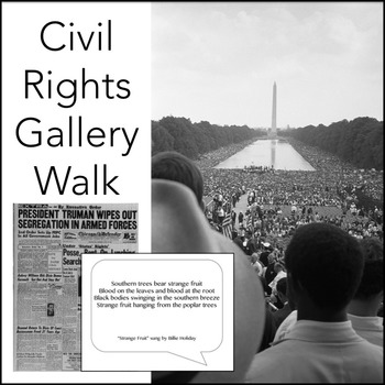 Civil Rights Movement Gallery Walk, Ready-to-Print Activit
