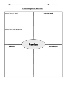 "Civil Rights Graphic Organizer - Unit Introduction ""Freedom"""