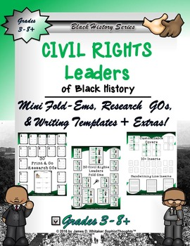 Civil Rights Leaders of Black History Mini Fold-Ems and Ac