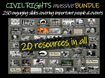 Civil Rights MASSIVE BUNDLE (20 PPTs, Documents and other