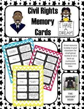 Civil Rights Memory Cards