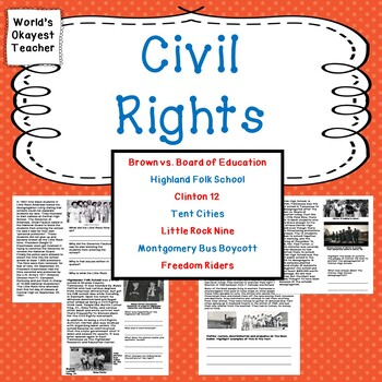 Civil Rights: Montgomery Bus Boycott, Freedom Riders, and More