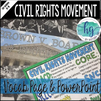 Civil Rights Movement Coloring Page and Review Activity