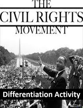 Civil Rights Movement Differentiation Activity - Power to