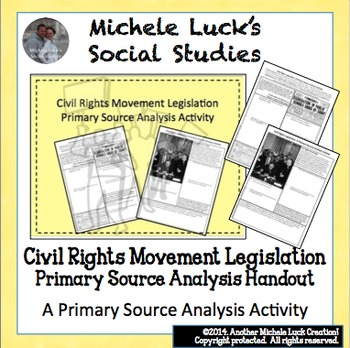 Civil Rights Movement Legislation Primary Source Analysis