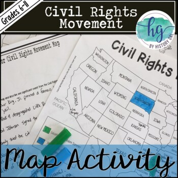 Civil Rights Movement Map