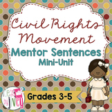 Civil Rights Movement Mentor Sentences & Interactive Activ