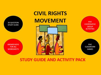 Civil Rights Movement: Study Guide and Activity Pack
