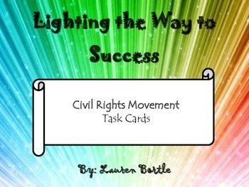 Civil Rights Movement - Task Cards