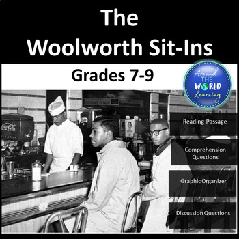 Civil Rights Movement - The Sit-ins (Woolworth)  Grades 7 to 9