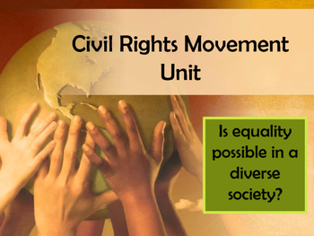 Civil Rights Movement Unit PowerPoint Timeline:Visually-Dr