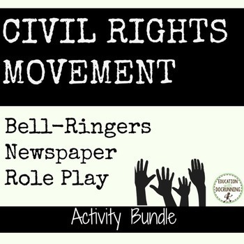 Civil Rights Movement Activity, Bell-ringer and Project Mi