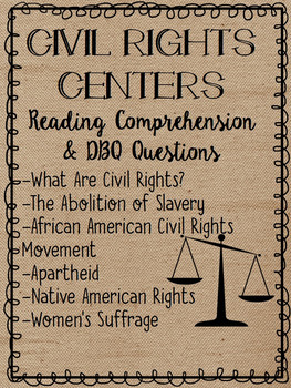 Civil Rights Movements Centers- African Americans, Natives