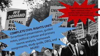 Civil Rights Movement + More! Complete Unit w/ DBQs, guide