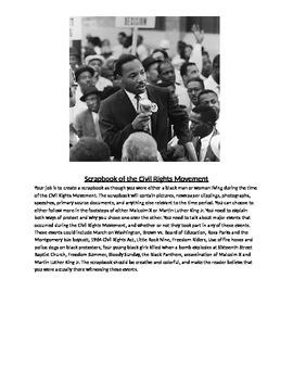 Civil Rights Scrapbook Project
