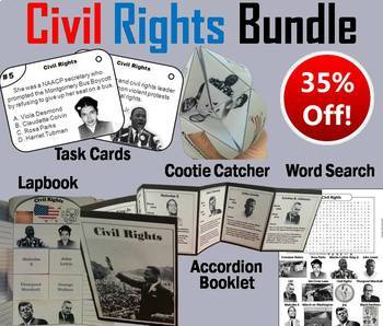 Civil Rights Task Cards and Activities Bundle (Black Histo