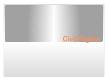 Civil Rights Terms PowerPoint goes with Civil Rights Test