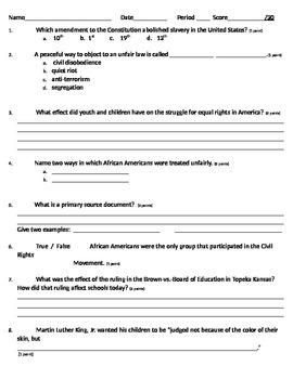 Civil Rights Unit Assessment
