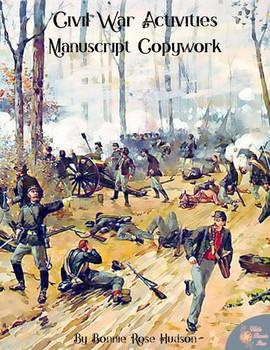Civil War Activities for Kids: Manuscript Copywork