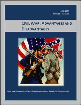 Civil War Advantages and Disadvantages PowerPoint & Lesson Bundle