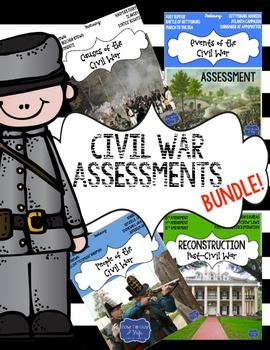 Civil War: Causes, Events, Leaders, & Reconstruction 4 TES