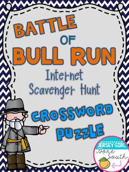 Civil War - Battle of Bull Run Internet Scavenger Hunt Cro