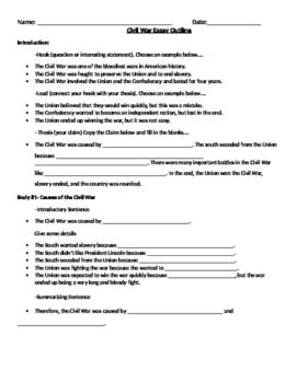 Civil War Battles Essay Outline