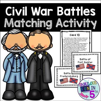 Civil War Battles Matching Activity