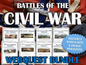 Civil War - Battles of the Civil War - Webquest Bundle / C