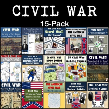 Civil War Bundle: 15-Pack [Great for Middle School]