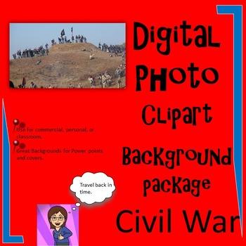 Civil War Clipart Digital Photo Background: 43 :Commercial