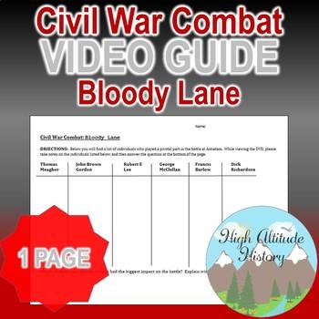 Civil War Combat: Bloody Lane Original Video Guide Questions
