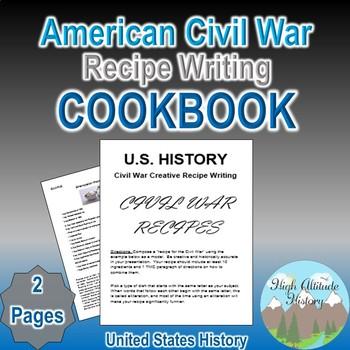 Civil War Creative Recipe Writing