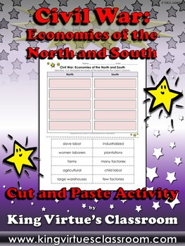 Civil War: Economies of the North and South Cut and Paste