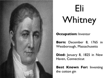 Civil War - Eli Whitney PowerPoint