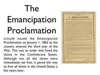 Civil War - Emancipation Proclamation PowerPoint