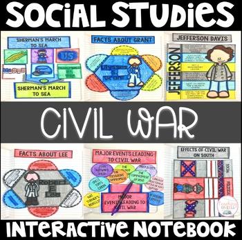 Social Studies Interactive Notebook - 5th Grade - Civil War