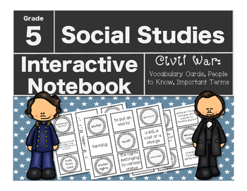 Civil War Interactive Notebook-Vocabulary Cards