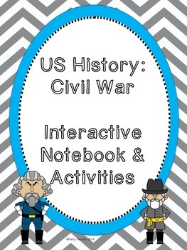 Civil War Interactive Notebook and Task Cards