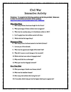 Civil War Investigative Webquest