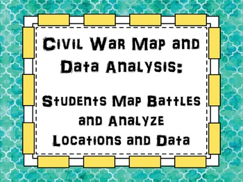 Civil War Map and Data Analysis