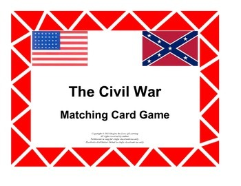 Civil War Matching Card Game