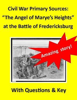 Civil War Primary Sources:  Battle of Fredericksburg (with