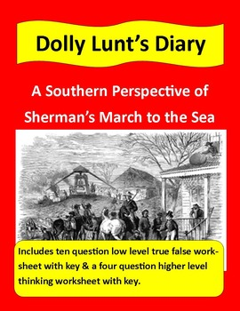 Civil War Primary Sources: Dolly Hunt's Diary (with questi