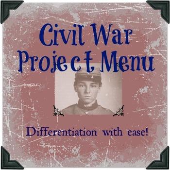 Civil War Project Menu