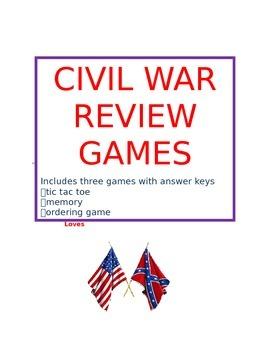 Civil War Review Games