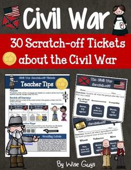 Civil War Scratch-off Tickets