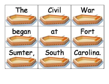 Civil War Sentence Scramble