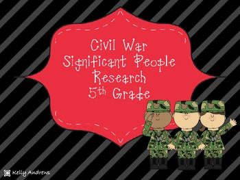 Civil War Significant People Research